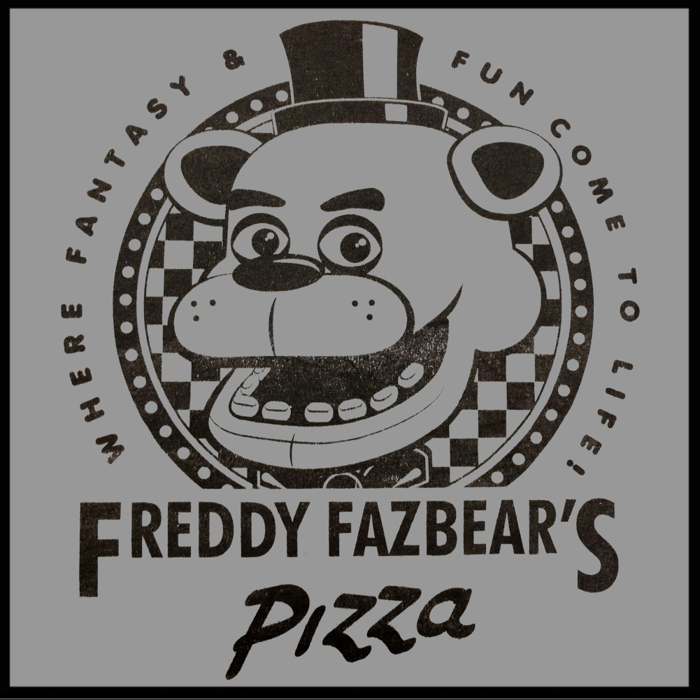 Official five nights at freddy s fazbears pizza t shirt
