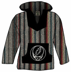 Official Grateful Dead Steal Your Face Deluxe Baja (Rasta)