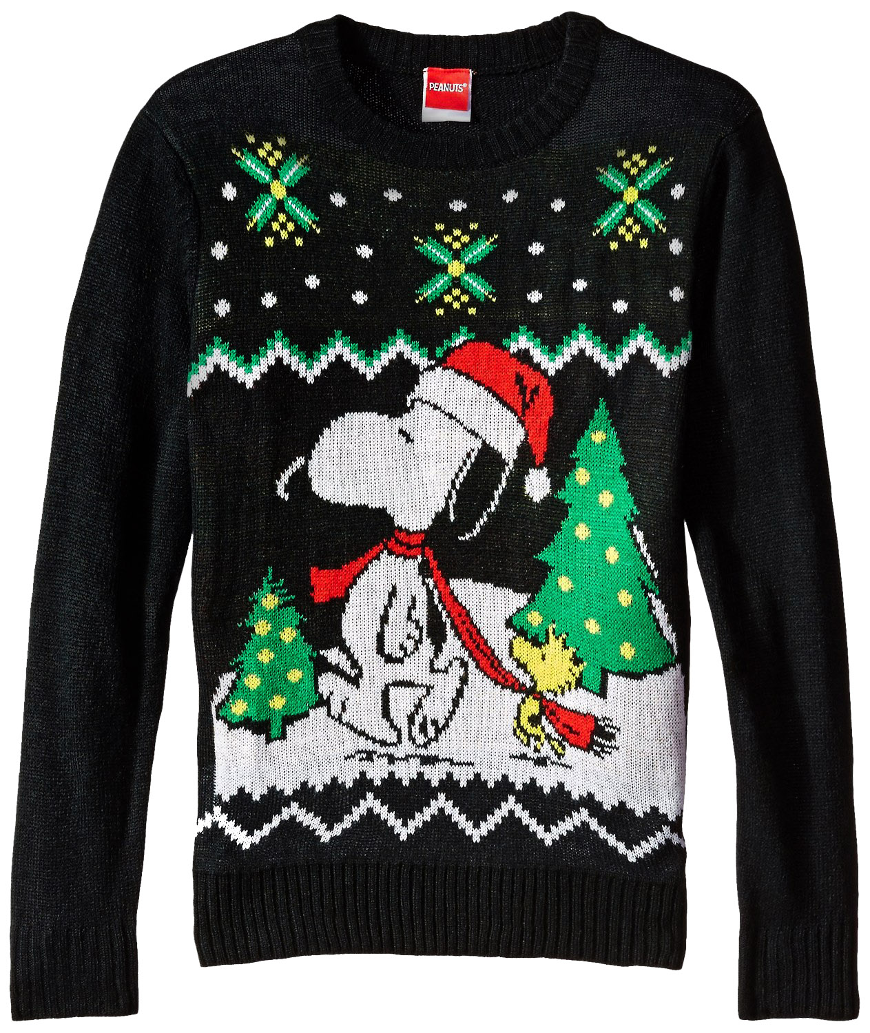 Official Peanuts Snoopy and Woodstock Youth Ugly Christmas ...
