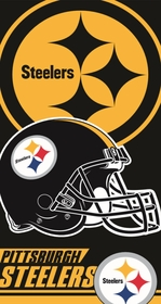 Official Pittsburgh Steelers Helmet Beach & Bath Towel (30 x 60)