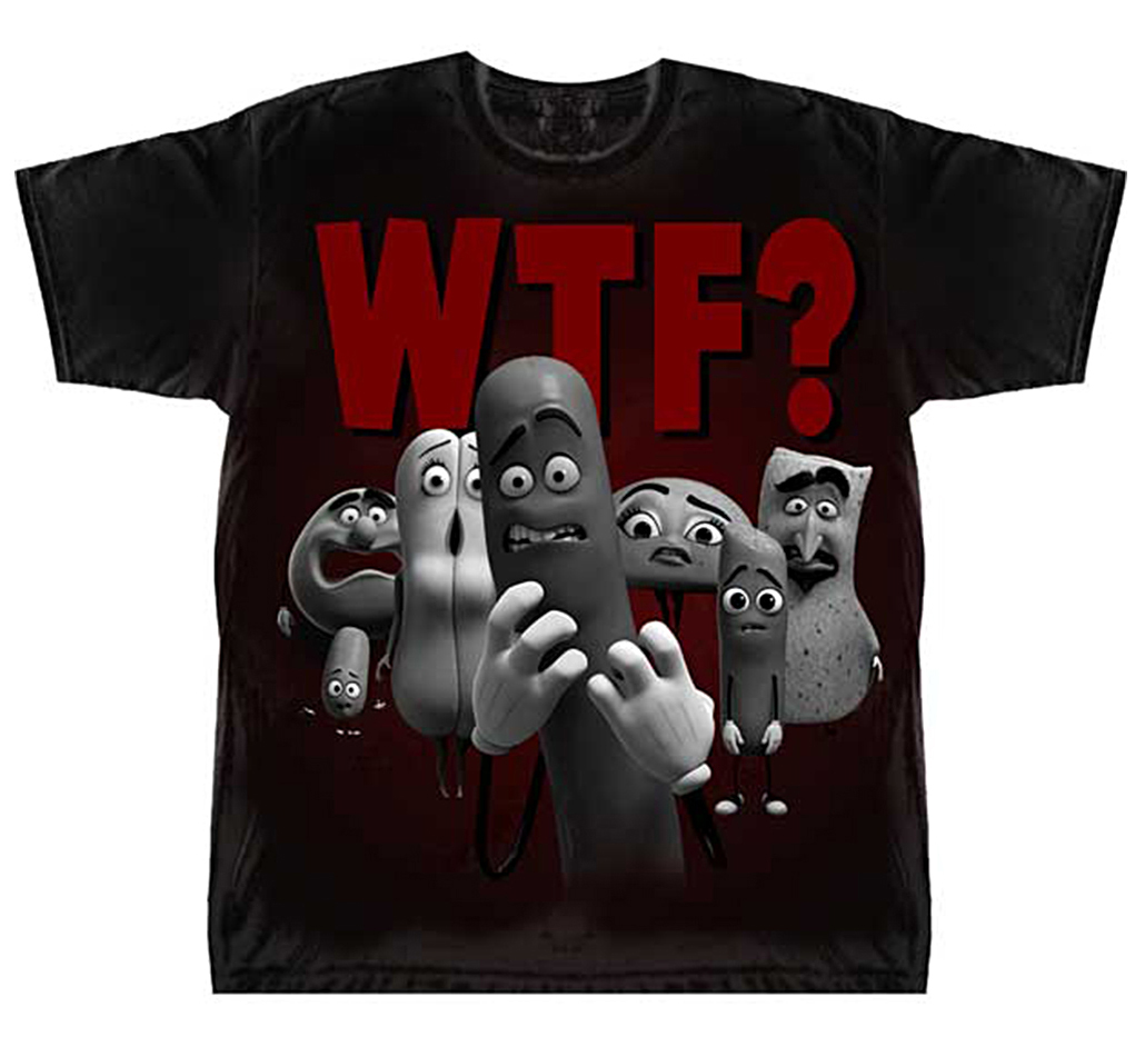 """Official Sausage Party """"WTF?"""" Mens T-shirt"""