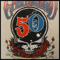 Official The Grateful Dead 50th Anniversary Natural Mens T-shirt
