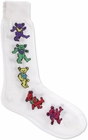 Official The Grateful Dead Dancing Bears Socks (White)