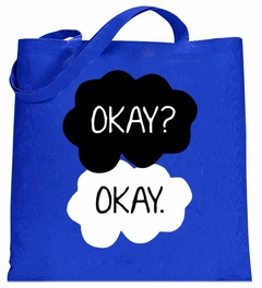 """""""Okay? Okay."""" Quote The Fault In Our Stars Tote Bag"""