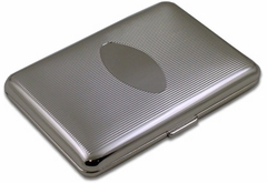 Oval Ribbed Cigarette Case (For Regular Size Only)