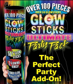 Over 100 Pieces Glow Sticks Ultimate Party Pack
