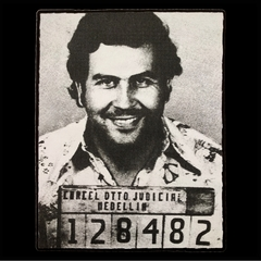Pablo Escobar Smiling Mug Shot Mens T-shirt