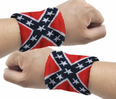 Pair of Rebel Confederate Wrist Bands