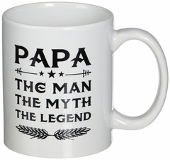 Papa Mug - Gift For Dad And Grandpa! Papa The Man The Myth The Legend
