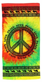 "Peace Sign Beach & Bath Towel (30"" x 60"")"