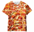 Pepperoni Pizza All Over Sublimation Print Mens T-shirt