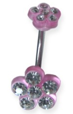 Pink Daisy Navel Jewelry