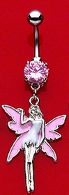 Navel Body Jewelry - Pink Fairy Navel Jewelry