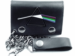 "Pink Floyd ""Dark Side"" Gun Metal Chain Wallet"