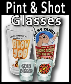 Pint Glasses, Shot Glassses & Beer Mugs