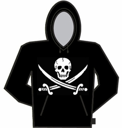 Pirate Skull And Swords Hoodie