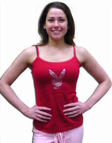 Playboy Intimates Rhinestone Bunny Head Logo� Camisole (Red)