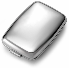 Polished Chrome  2 Compartment Pill Box