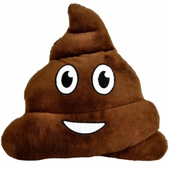 Poop Emoji Smiley Face Stuffed Pillow