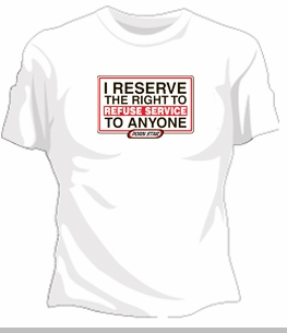 "Porn Star ""Refuse Service"" Girls T-Shirt<!-- Click to Enlarge-->"