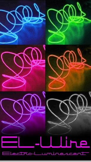 Portable EL (electro-luminescent) Light Up Wire<!-- Click to Enlarge-->