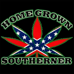 Pot Leaf Home Grown Southerner Men's T-Shirt
