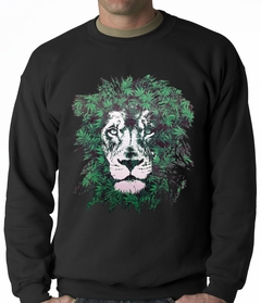 Pot Leaf Lion Adult Crewneck