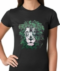 Pot Leaf Lion Ladies T-shirt