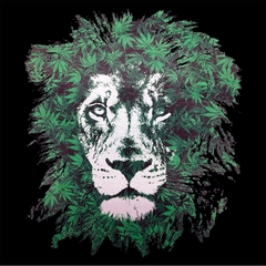 Pot Leaf Lion Mens T-shirt