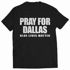 Pray For Dallas - Blue Lives Matter Kids T-shirt