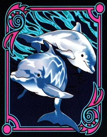 Premium Dolphin Wall Hanging Tapestry / Bedspread (Full Size)