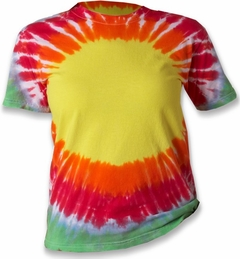 Premium Hand Made Tie Dye T-Shirts - Tear Drop Rainbow