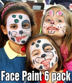 Premium Paint N' Peel Face & Body Paints (6 pack)