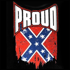 Proud Distressed Confederate Flag  Men's T-Shirt