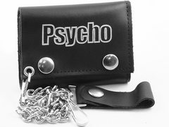 Psycho Genuine Leather Chain Wallet