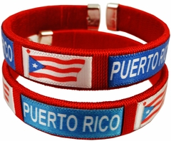Puerto Rico International Flag Cuff Bracelet
