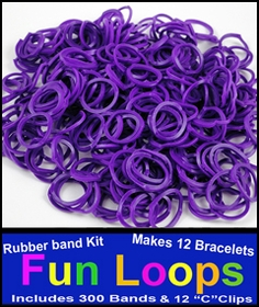 Purple Rubberband Looms - 300 Fun Loop Pieces