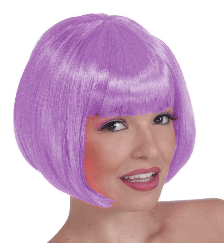 Purple And White Wig 62