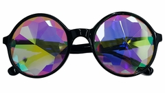 Rainbow Kaleidoscope Glasses- Fractal Lenses (Black Frames) Includes BeWild Balloon