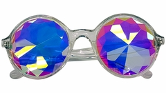 Rainbow Kaleidoscope Glasses- Fractal Lenses (Clear Frames)