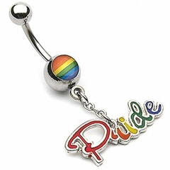 "Navel Body Jewelry - Rainbow ""Pride"" Charm"