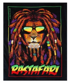 "Rastafari Lion Beach Towel (54"" x 68"")"