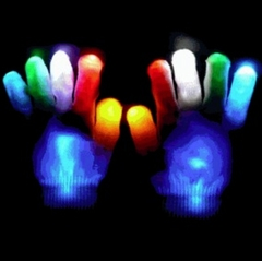 Rave Gloves - Raver Hands LED Light Show Pair of Gloves (Multicolor)