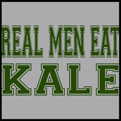 Real Men Eat Kale Men's T-shirt