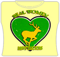 Real Women Drive Tractors Girls T-Shirt