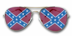 Rebel Confederate Flag Aviator Sunglasses