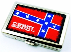 Rebel Confederate Flag Cigarette Case (For Regular Size & 100's)