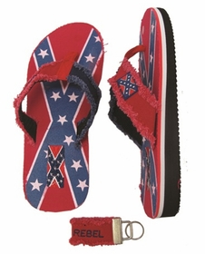 Rebel Confederate Flag Flip Flops