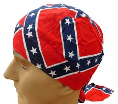 Rebel Confederate Flag Head Wrap Du Rag