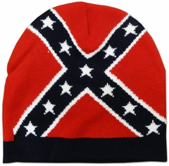 Confederate Rebel All Over Flag Beanie